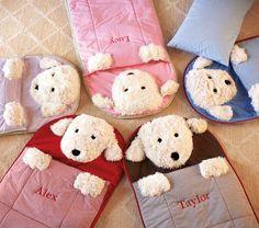 soo cute..Shaggy Dog Sleeping Bags | Pottery Barn Kids