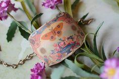 LivyLynn Vintage Yellow Moth Cuff Bracelet - Butterfly Bracelet - Shrink Plastic Cuff - Cuff Bracelet - Vintage Cuff