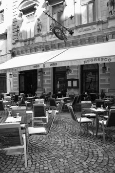 cafe in the Old City Center, Bucharest