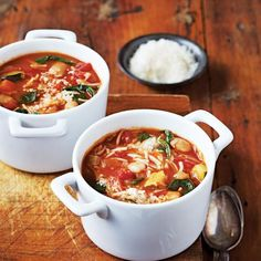 Jamie Oliver's lovely chunky minestrone is fast, delicious, healthy and sure to be a family favourite.