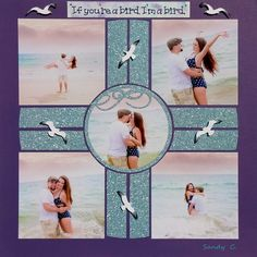 Easily scrapbook multiple pictures together to tell a story using a reusable stencil like this Compass template