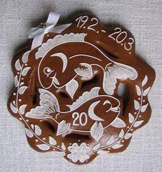 znamení ryby Fun Cookies, Sugar Art, Royal Icing, Holiday Treats, Gingerbread Cookies, Fish, Sweet, Gifts, Zodiac