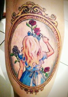 Alice painting the roses red.