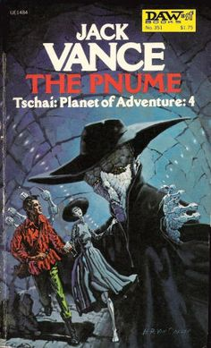 H. R. VAN DONGEN 1920-2010 - The Pnume by Jack Vance - 1979 DAW Books /  Henry Richard Van Dongen was an American artist who was known for his science fiction magazine and book covers. He often alternated with Kelly Freas as the cover artist for Analog Science Fiction and Fact.