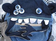 Monster bags from jeans