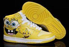 promo code 46378 6146a Nike Dunk High SpongeBob Shoes-Lover style Nike Air Jordans, New Jordans  Shoes,