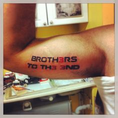 Brothers to the End Tattoo  Gears of War  Bicep Tattoo  Instagram