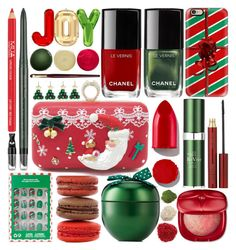 """Santa Welcome!"" by grozdana-v ❤ liked on Polyvore featuring beauty, Casetify, Chanel, Rodin, RéVive, Swarovski, Kevyn Aucoin, Estée Lauder, JINsoon and Bobbi Brown Cosmetics"