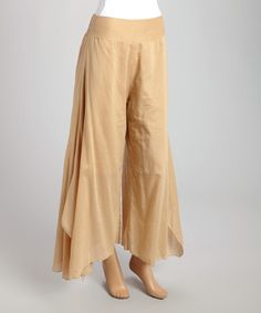 Look what I found on #zulily! Khaki Palazzo Pants - Women #zulilyfinds