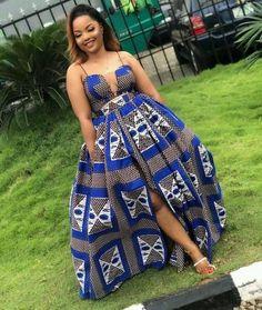 Ankara Dress, Kitenge Dress, 2 piece crop top and maxi skirt Dress African Maxi Dresses, African Fashion Ankara, Ankara Dress, Latest African Fashion Dresses, African Dresses For Women, African Print Fashion, Africa Fashion, African Attire, African Wear