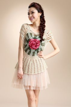 Korean Wild Roses Hairpin Crochet Top  http://img01.taobaocdn.com/imgextra/i1/1023197390/T2GtmRXj4XXXXXXXXX_!!1023197390.jpg