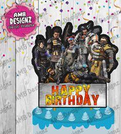 AMBDesignz's Birthday / Apex Legends - Photo Gallery at Catch My Party Birthday Supplies, Birthday Party Themes, Party Supplies, Birthday Ideas, Diy Cake Topper, Cake Toppers, Diy Party, Party Favors, 12th Birthday