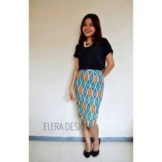 Rang rang Bhaviya Blue Rp 99k Line : eleradesign  #skirt #blue #triangle #tosca #glamour