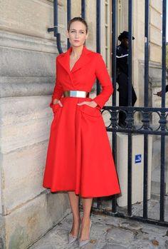 Arrivals for the Dior Spring-Summer 2013 fashon show during Paris Fashion Week.