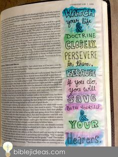 Bible Journaling Ideas: A Look At My Bible Doodles This might be one of the toughest posts I've ever written. Timothy Bible, 1 Timothy, Bible Journaling For Beginners, Art Journaling, Brow Tutorial, Prayer Scriptures, Bible Knowledge, Bible Art, Fun Ideas