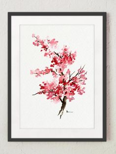 Plakaty na prezent obraz kwiat wiśni plakat A4