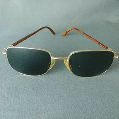 f505086eb1 Details about Christian Dior Eyeglass Frames Austrian Made Gold and Brown  Square Lense Unisex