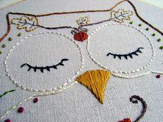 Ohli Owl #embroidery #pattern #etsy $4.00