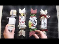 Hi everyone : ) i want to share these cute Christmas candy treat boxes that i created for the I Am Roses December Color Challenge All Wrapped Up . I had so much fun creating these homemade treat boxes : ) i hope you Christmas Crackers, Christmas Bags, Christmas Paper, Christmas Candy, Christmas Crafts, Handmade Christmas, Christmas Holidays, Envelope Punch Board Projects, Envelope Maker