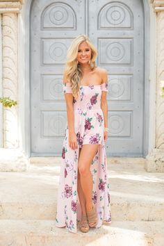 aa1459300034 Blushing Beauty Floral Maxi Romper Summer Maxi