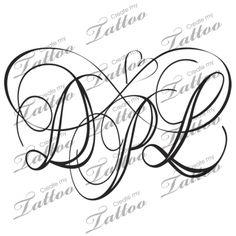 Infinity initials | dpl #148438 | CreateMyTattoo.com