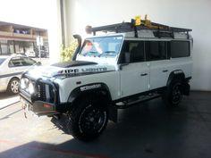 Land Rover Defender white