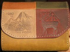 #Geldbörse #Machupichu aus #Peru, echt #Leder