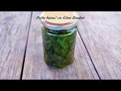 SPANAC LA BORCAN pentru iarna (fara conservanti) - YouTube Conservation, Gin, Pickles, Cucumber, Mason Jars, Food, Canning, Salads, Meal