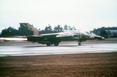 An F-111F Aardvark from the 495th Tactical Fighter Squadron launches in support of Operation El Dorado Canyon at Royal Air Force Lakenheath, England, April 14, 1986. The operation was the conclusion of extensive joint service and multinational military co