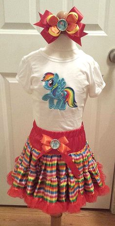 Rainbow Dash Inspired outfit My Little Pony by MikMakBowtique, $45.00
