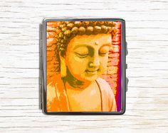Buddha Cigarette Case - Buddhism Metal Cigarette Case - Cigarette Case Wallet - Cigarette Box - Cigarette Holder by RegalosOnline on Etsy