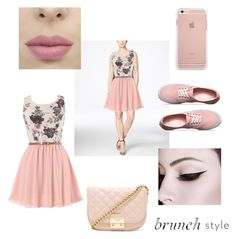 """""""Brunch"""" by allefale ❤ liked on Polyvore featuring GUESS, Vans, Forever 21 and brunch"""