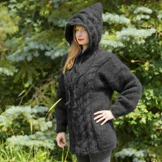 Hand Knitted Sweaters, Mohair Sweater, Black Sweaters, Hand Knitting, Jumper, High Neck Dress, Turtle Neck, Pullover, Dresses