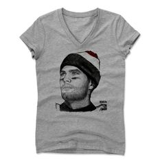 Women's Tom Brady Beanie R V-Neck from 500 LEVEL. This Tom Brady V-Neck comes in multiple sizes and colors.
