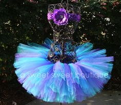 Butterfly Kiss Tutu Purple Teal And Blue by ASweetSweetBoutique, $25.00