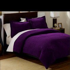 My purple bedding!                                                                                                                                                                                 More
