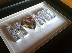 Home is where the heart is Paper Quilling di QuillingbyCourtney