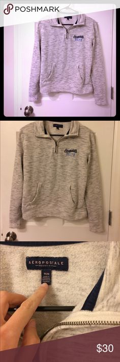 Aeropostale sweatshirt Make an offer! Soft and warm with a zip up collar. No trades. In great condition. Bundle and save! Aeropostale Tops Sweatshirts & Hoodies