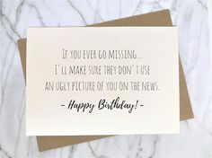 Funny Birthday Card for Best Friend Ironic Birthday Card Trendy Card Ironic Card Sarcastic Card Milk Carton Card Clever Card - Geburtstagsparty Birthday Quotes Funny For Him, Best Friend Birthday Cards, Birthday Message For Friend, Birthday Cards For Friends, Birthday Messages, Funny Birthday Cards, Birthday Diy, Best Friend Gifts, Birthday Greetings