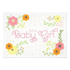 Sweet Flower Garden Baby Shower Invitation