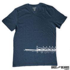 Rowing Team VNeck Tshirt Screen Printed Crew by BrosWithBeards, $24.00
