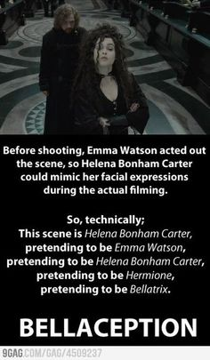 This proves just how awesome Helena Bonham Carter is, because she nailed it