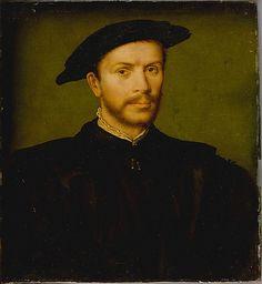 Por   Portrait of a Bearded Man in Black  Attributed to Corneille de Lyon   (Netherlandish, The Hague, active by 1533–died 1575 Lyons) trait of a Bearded Man in Black