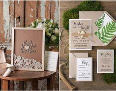Top 12 Rustic Wedding Guest Books & Botanical Wedding Invitations  4 Love Polka Dots
