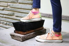 Get Ready For Fall: Make This DIY Boot Brush >> http://blog.diynetwork.com/maderemade/how-to/diy-boot-brush-scraper/?soc=pinterest