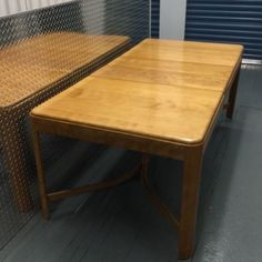 Heywood-Wakefield-Blonde-Maple-Dining-Room-Table-w-6-chairs-SF-pick-up-only