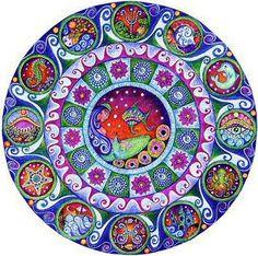 ☮ American Hippie Psychedelic Art ~ Mandala .. Mermaid Under the Sea