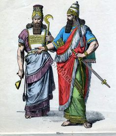 Artistic Rendering of Some Ancient Persian Clothing.