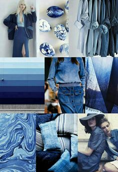 🌊 Trending blues from Pantone in Island Paradise, Niagra & Lapis - shades of the sea are everywhere this season! Pantone Azul, Pantone Color, Pantone 2020, Fashion Colours, Colorful Fashion, Blue Fashion, Azul Niagara, Bleu Indigo, Azul Indigo