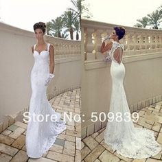 Online Shop Vestido de noiva Sexy Open Back Lace Wedding Dress Mermaid Wedding Dresses 2014 vestido de casamento vestido de noiva sereia|Aliexpress Mobile